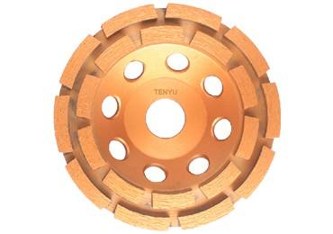5 inch Diamond Double row segment grinding CUP wheel disc grinder concrete Granite Stone saw blade