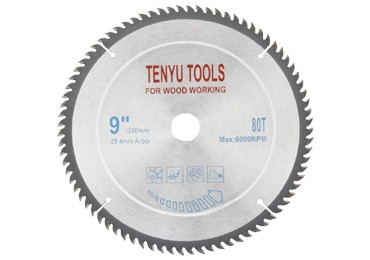 9 Inch 80 Teeth Carbide Wood Circular Saw Blades
