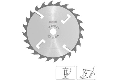 Multi Rip Wood Circular Saw Blade With ATB Wipers Slot