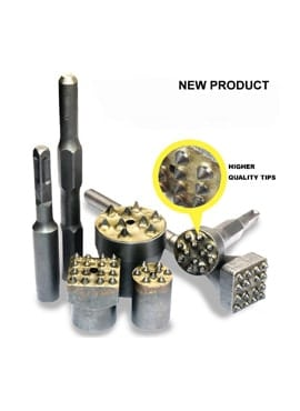 SDS Hammer Brush Head Carbide-Tipped Bushing Tool Head Chisel for Concrete Surface Leveling Out