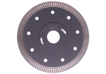 Turbo-Mesh Diamond Saw Blade with Flange for Marble Cutting