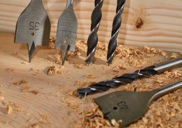 Wood Spade Bit Using