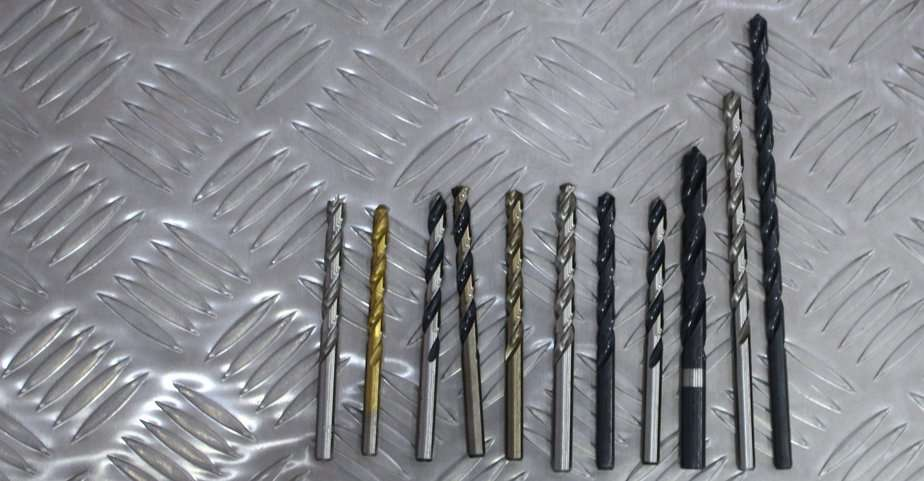 Different colors of Black Oxide Drill Bits