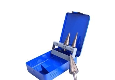 M2 Double Straight Flute Step Up Drill Bit Set for Steel and Metal Drilling with Three Flats Shank